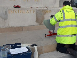 Slip Resistance Tests on War Memorial