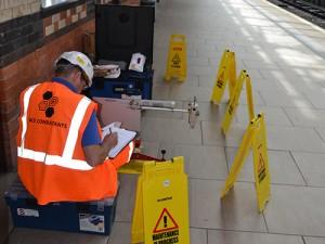 Slip Resistance Testing A Station Platform
