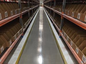 Completed Aisle in a Fully Operational Warehouse