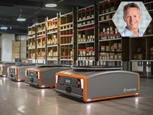Automated Warehouse Grey Orange Robots