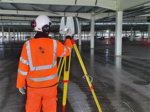 3D Scanning an Automated Warehouse Floor